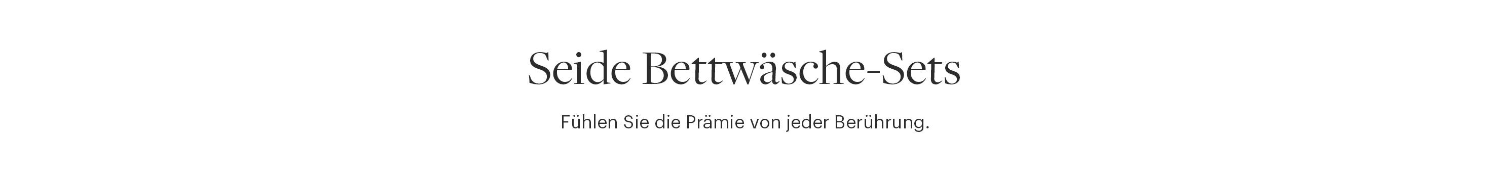 2tlg/3tlg Seide Bettwäsche Set