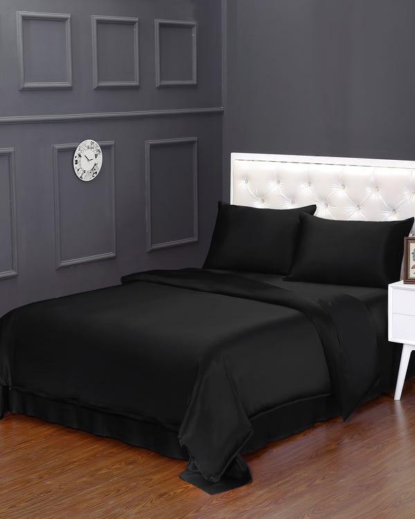 19MM 3PCs Silk Duvet Cover Set