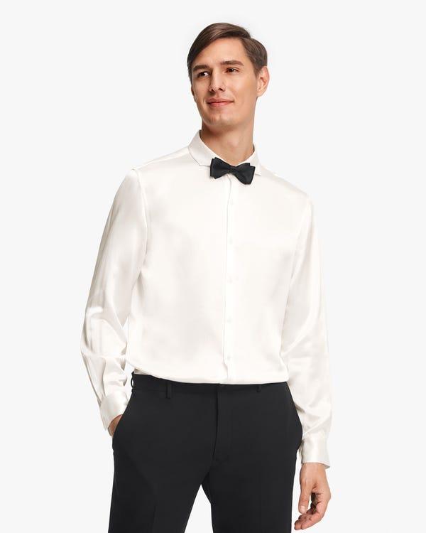 Elegantes Seide Herrenhemd