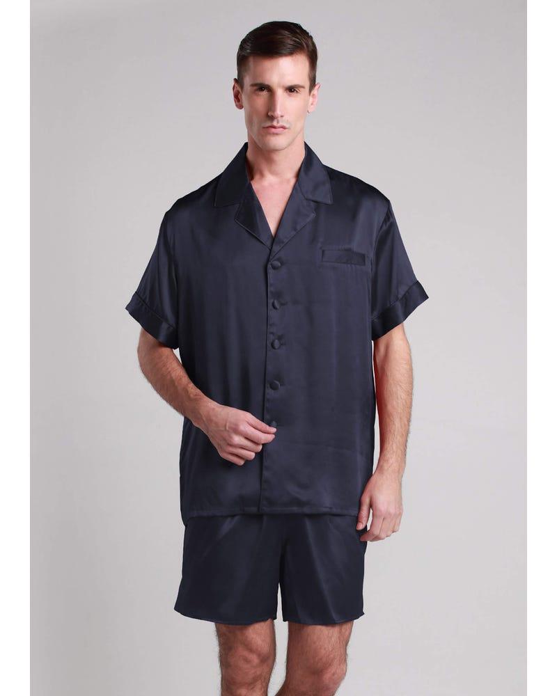 22 Momme Klassiske Korte Silke Pyjamas