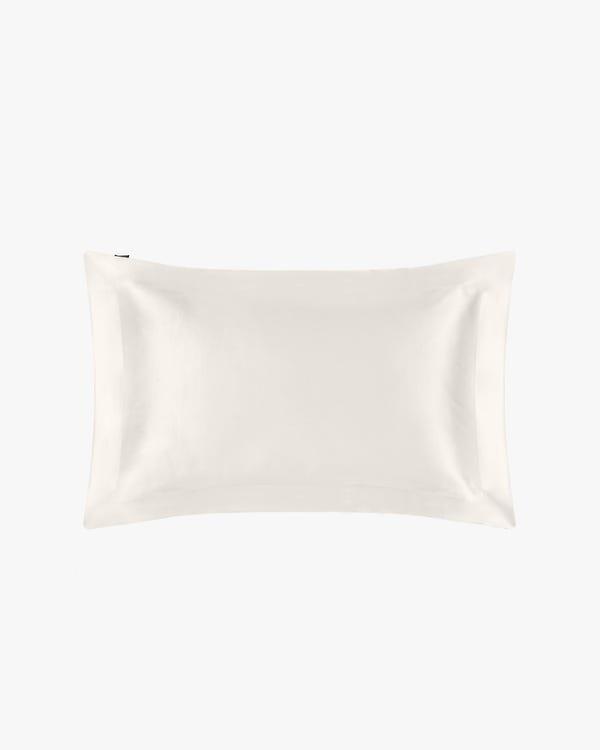 19 Momme Seide Kissenbezug mit Stehsaum Elfenbein 80x80+5cm