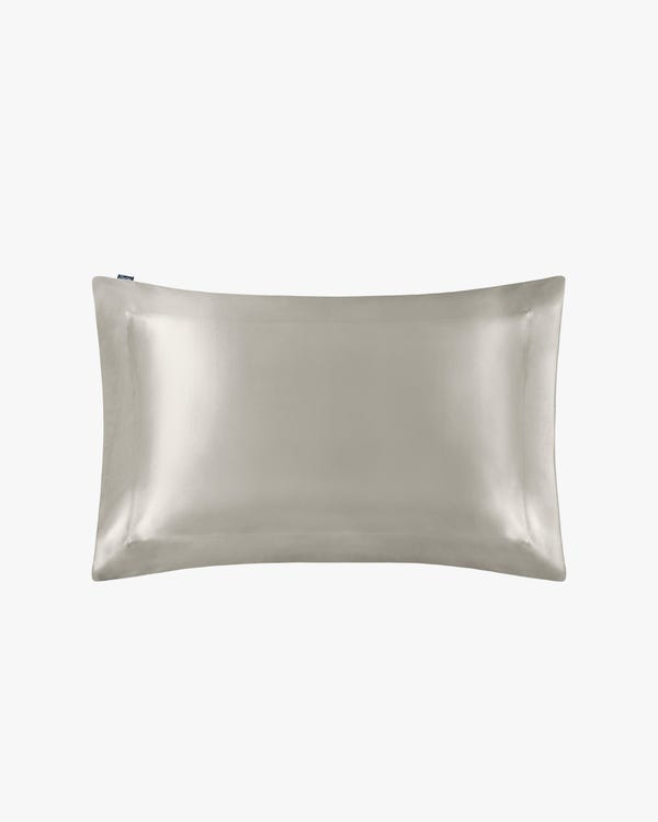 19 Momme Oxford Silk Pillowcase Silvergray King