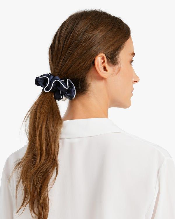 Luxury Chic Trimmed Silk Scrunchie