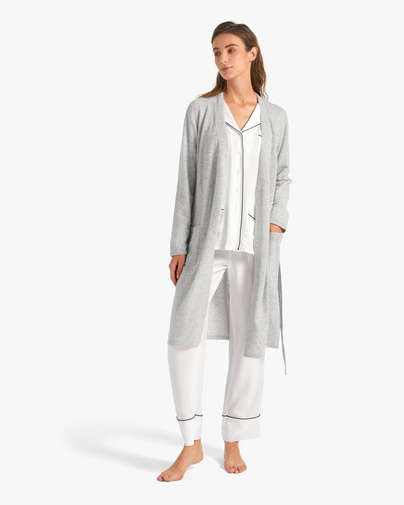 Mid Length Cashmere Robe For Women