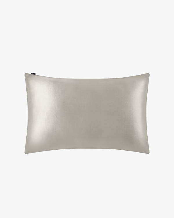 19 Momme Housewife Silk Pillowcase Silvergray Travel