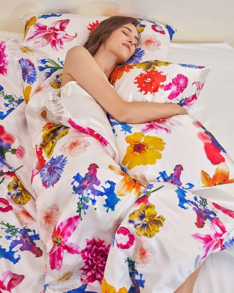 Belted Shirred Silk Shirt Dress
