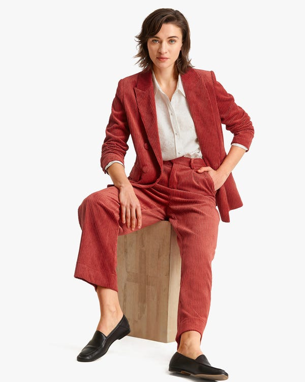 Effortless Corduroy Jacket With Silk Lining