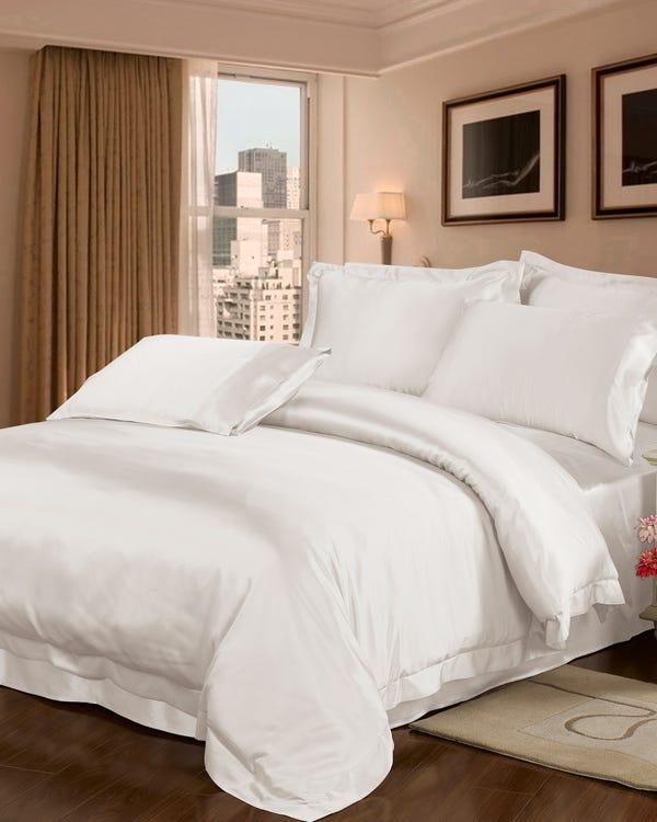 22 Momme nahtlos Seide Bettbezug Elfenbein 200x200cm