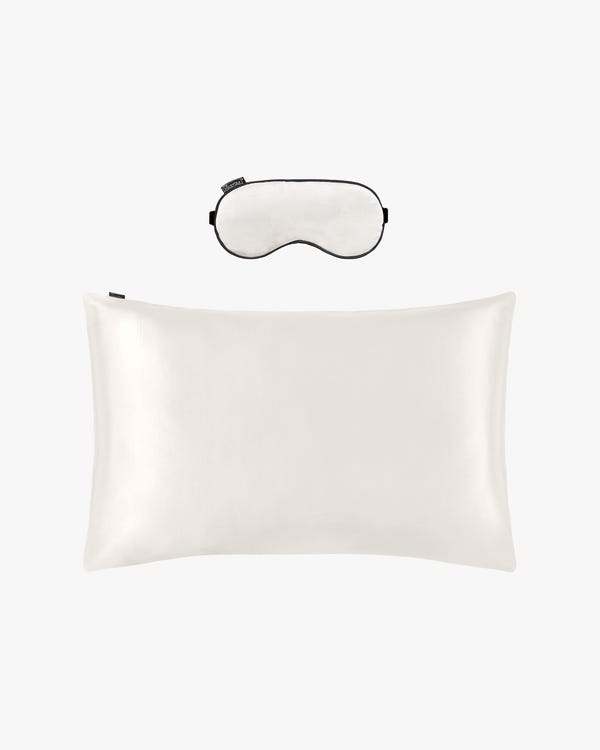 19MM Terse Silk Pillowcase and Silk Sleep Eye Mask Set
