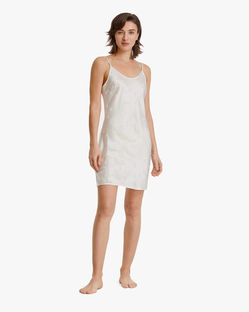Full Of Stars Silk Jacquard Nightgown