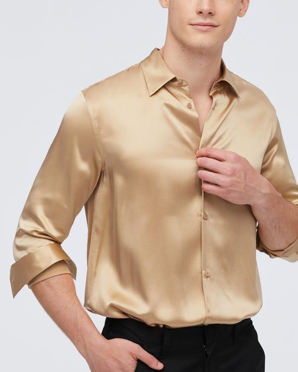 Stripes Jacquard Silk Pillowcase with Hidden Zipper Natural-White 35x45cm