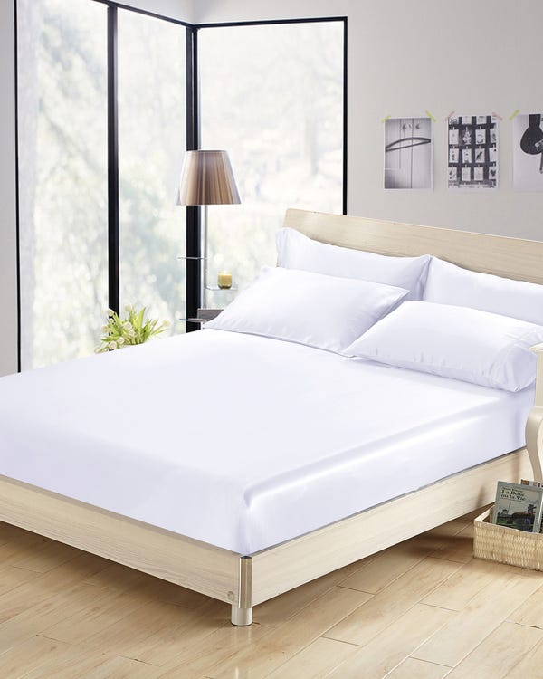 22 Momme Seamless Silk Fitted Sheet White King