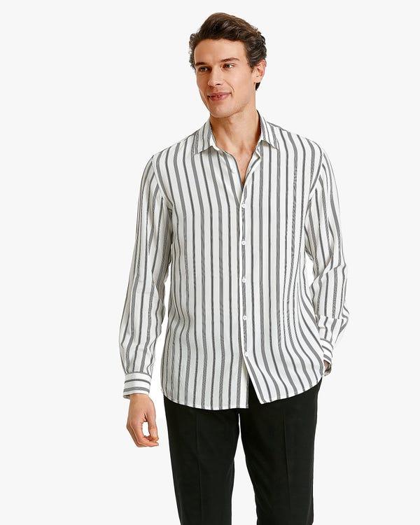 Classic stripes Printed Men Shirt Chic-Black-Stripes XXXL