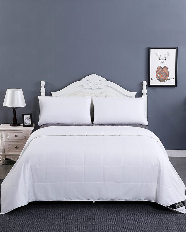 Washable Cotton Covered Silk Comforter Queen