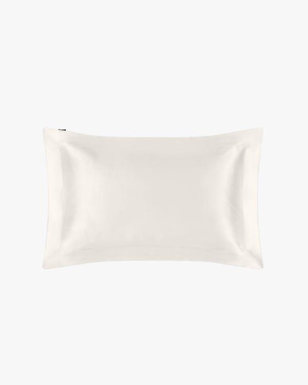 22 Momme Seide Kissenbezug mit Stehsaum Elfenbein 80x80+5cm