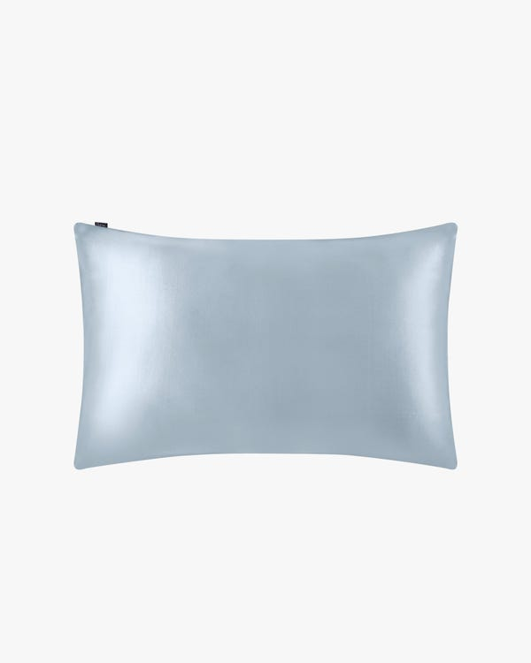 22 Momme Terse Silk Pillowcase Silver Blue Standard