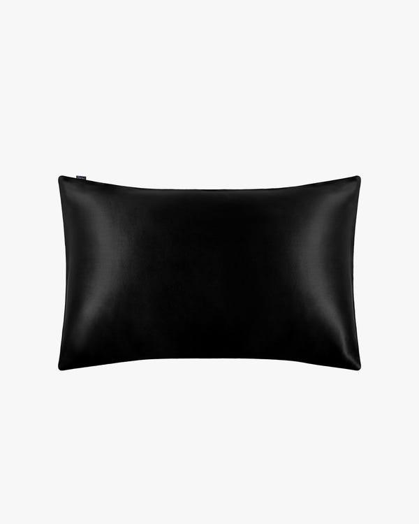 Taie d'Oreiller Laconique En Soie 22 Momme Noir 60 x 60cm