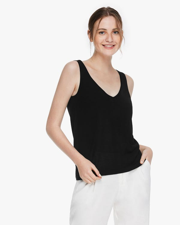 Blend-Knitted Silk Camisole Top