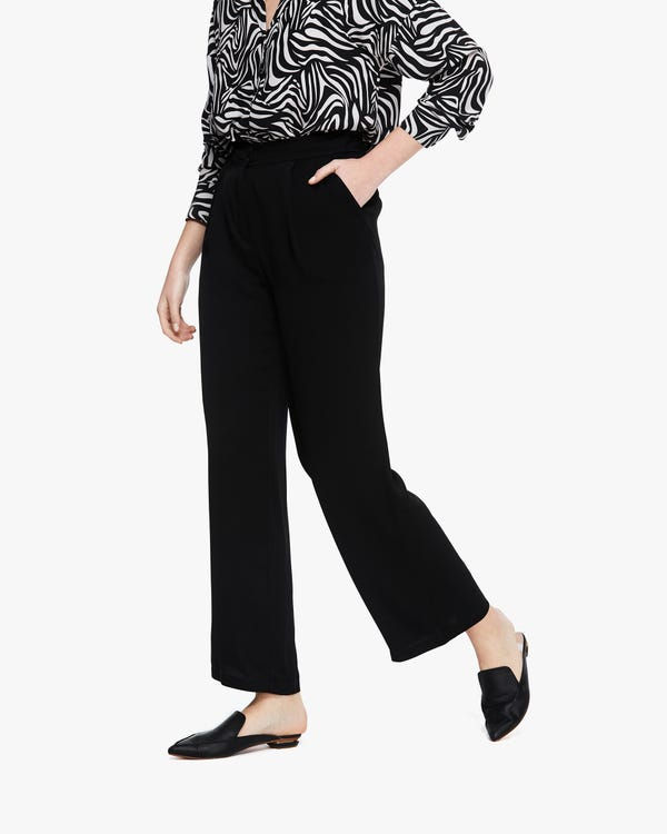 Flexible Classic Silk Straight Pants