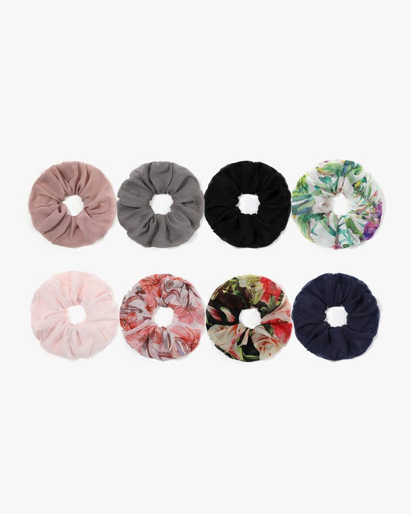 Spring and Summer Light Silk Scrunchie