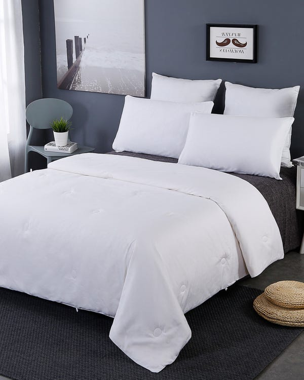 All Season Cotton Covered Silk Duvet