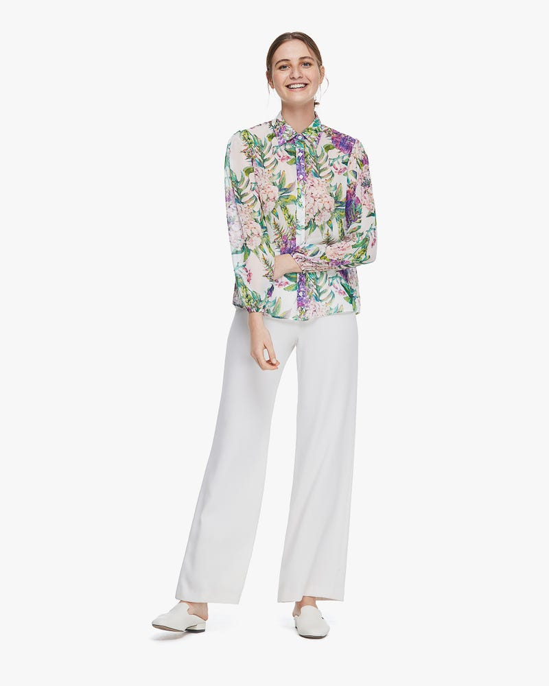MIM Floral 2 in 1 Silk Blouse