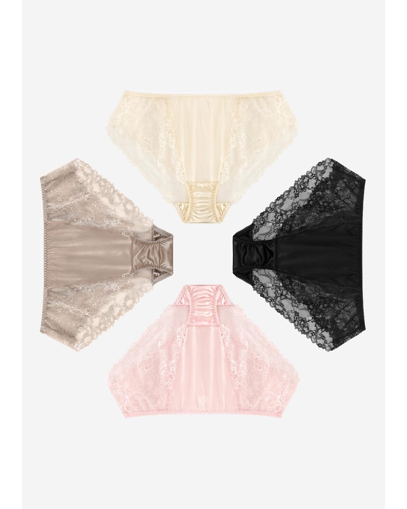 Sexy Lace Silk Knicker For Women