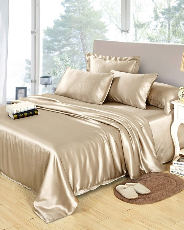 25 Momme Seamless Luxury Duvet Covers Coffee Full