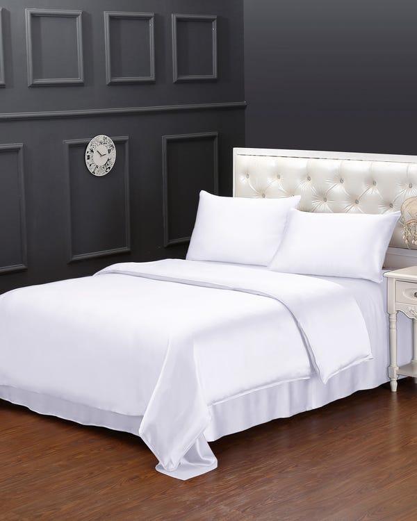 25 Momme nahtlos Seide Bettbezug Weiß 155x200cm