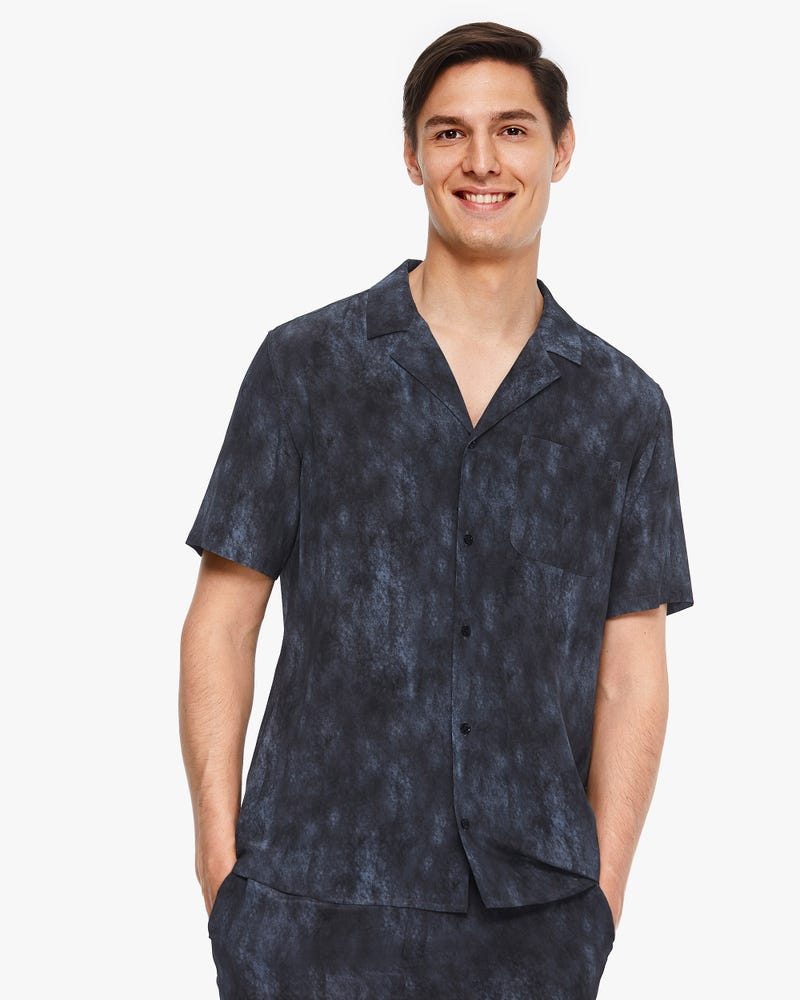 Air Pollution Smog Print Summer Men Shirt