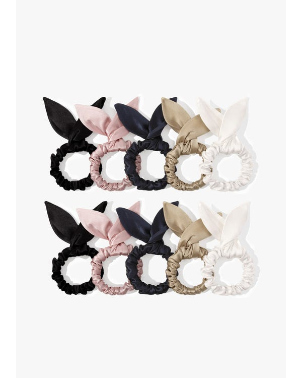 Cute Bunny Ears Silk Scrunchie