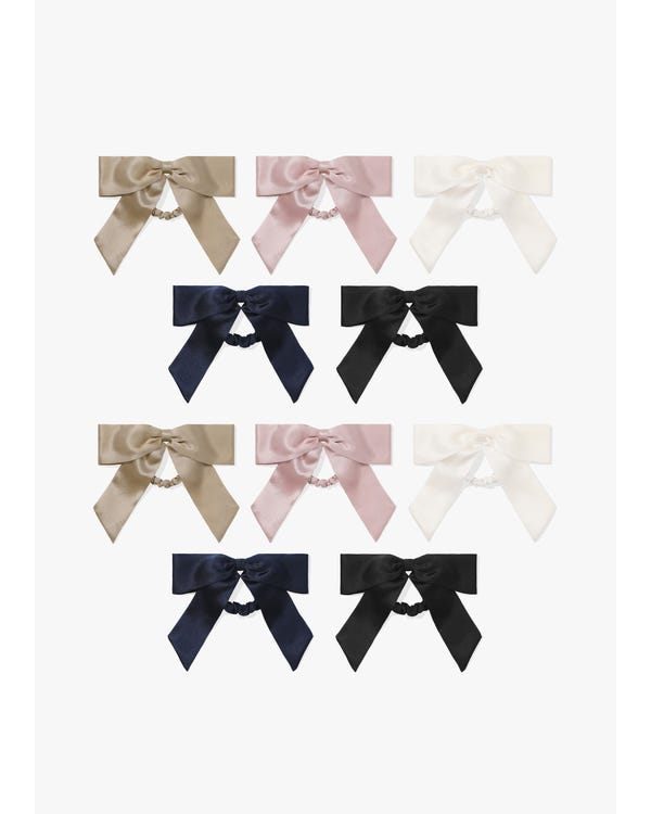 Lovely Bowknot Silk Scrunchie