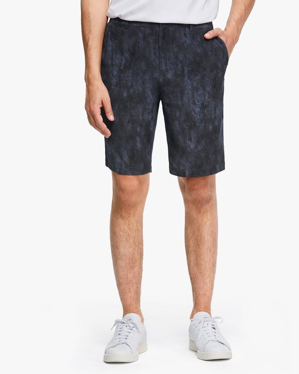 Air Pollution Smog Print Men Shorts Black-Gray-Print 32A