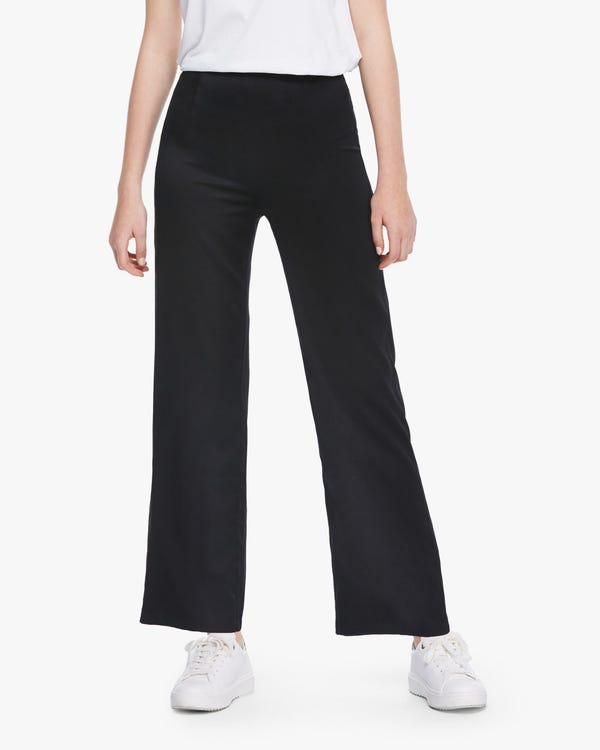 Flattering Silk Wide-Leg Pants Black 29B