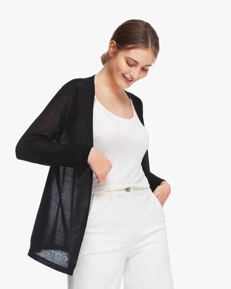 Casual Mid-length Thin Silk Cardigan