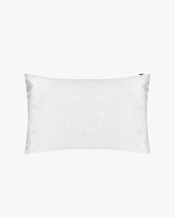 Silk Star Jacquard Pillowcase with Hidden Zipper Natural-White 50x90cm