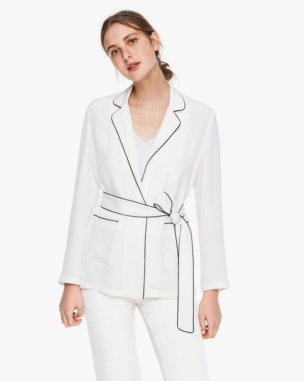 Chaqueta Seda Vintage Estilo Pijama