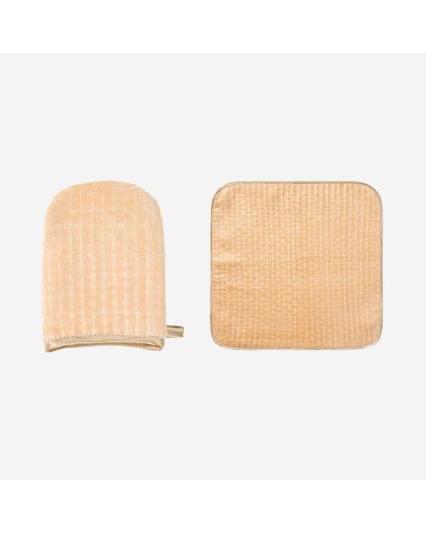 Silk Wash Pad And Towel