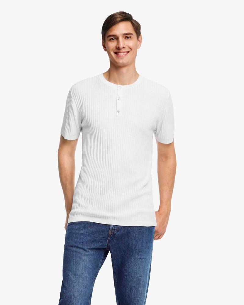 Jacquard Silk Knit Men T-shirt