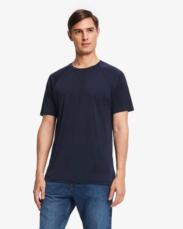 Simple Silk Knit Men T-shirt