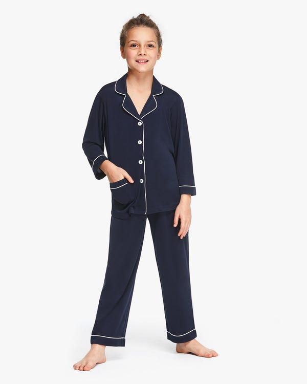 Long Sleeve Kids Silk Knitted Pyjamas