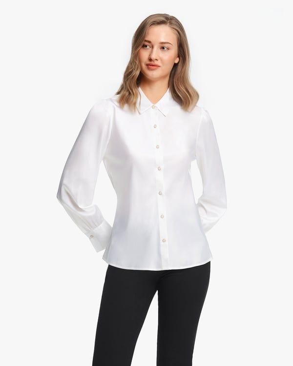 Retro Puff Sleeves Women Shirt