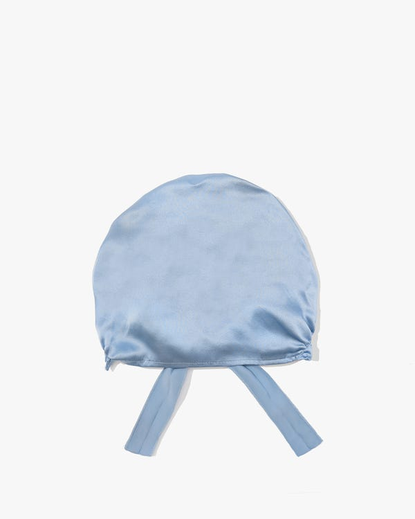 Silk Night Sleeping Cap with Ribbons