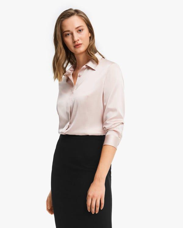 Classic Silk Business Shirt For Women