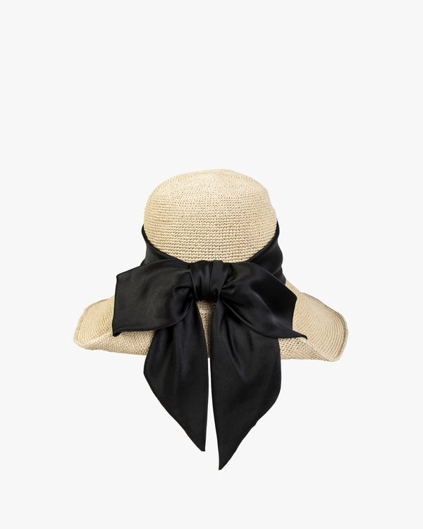 Sun Hat With Silk Ribbon