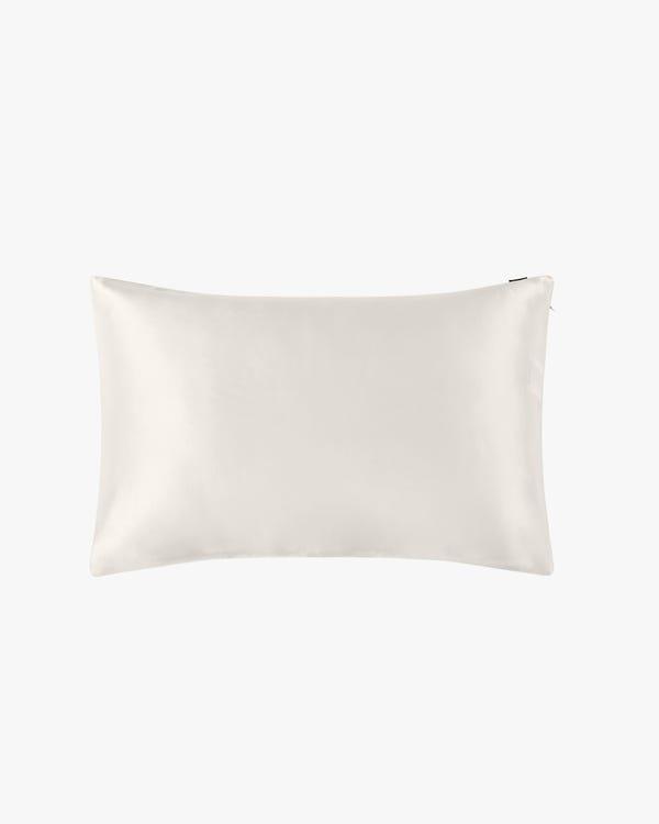22 Momme Housewife Silk Pillowcase with Hidden Zipper Ivory 30x40cm