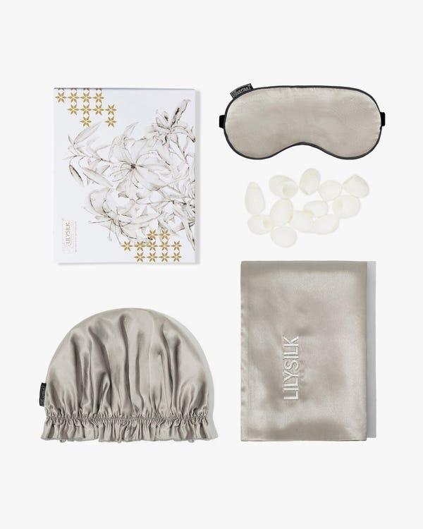 Monogrammed Silk Beauty Sleep Set
