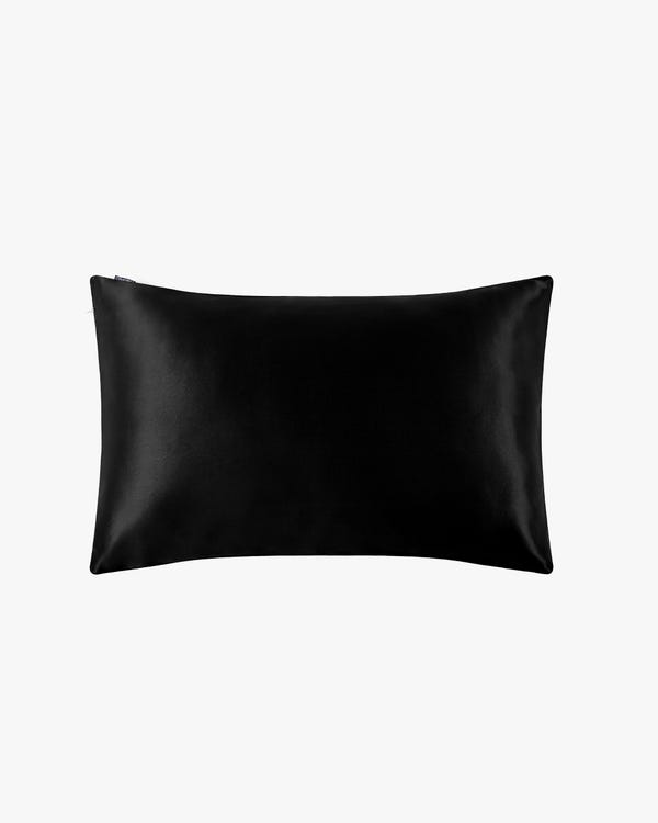 22 Momme Housewife Silk Pillowcase with Hidden Zipper Black King