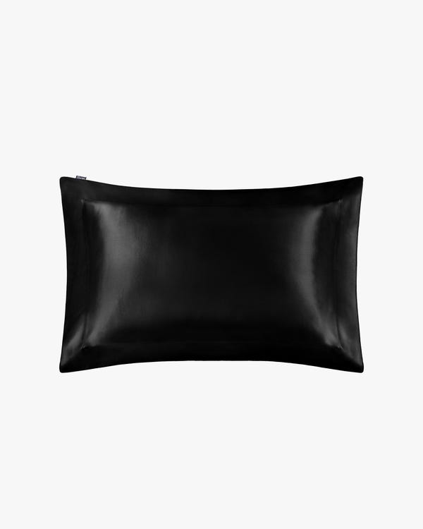 Taie d'Oreiller Oxford Luxueuse 25 Momme Noir 35 x 45 + 5cm
