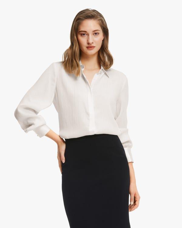 Camisa Seda Elegante con Textura